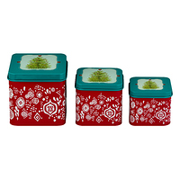 The Pioneer Woman Holiday Cheer 3-Piece Square Canister Set at Walmart for $6.99 Online