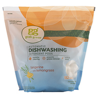Grab Green Automatic Dishwashing Detergent Pods Tangerine with Lemongrass 132 Count at Walmart for $11.15 Online