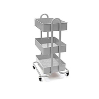 Mind Reader 3 Tier All Purpose Utility Cart Heavy Duty Silver at Amazon.com for $21.96 Online