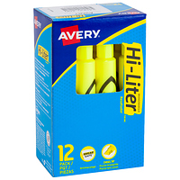 Avery Hi-Liter Desk-Style Highlighter Fluorescent Yellow (24000) at Walmart for $1.00 Online