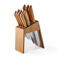 12-Piece Acacia Handle Knife Set with Acacia Wood and Acrylic Block at Walmart for $19.95 Online