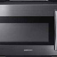 Samsung - 1.8 Cu. Ft. Over-the-Range Fingerprint Resistant Microwave with Sensor Cooking - Black stainless steel at Best Buy for $144.99 Online