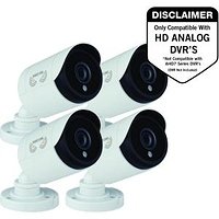 Night Owl Security CAM-4PK-HDA10W-BU HD Wired Security Bullet Cameras, 1080p (White) - Pack of 4- $91.07