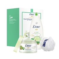 Dove 3-Pc Beauty Gift Set Kiwi Seeds & Cool Moisture with BONUS Pouf (Body Polish Body Wash) at Walmart - $1.00 in 26% of stores