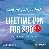 BrickSeek Exclusive Deal from FastestVPN - $12 for lifetime VPN!