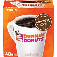 Dunkin' Donuts Original Blend K-Cup Coffee Pods Medium Roast 48 Count For Keurig and K-Cup Compatible Brewers at Walmart - $7.00 in 11% of stores
