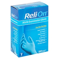 ReliOn Nitrile Examination Gloves 100 count at Walmart for $9.24 Online