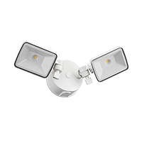 Lithonia Lighting OLF 2SH 40K 120 WH M4 Twin Head Outdoor Integrated LED Security Flood Light, Square, 4000K, White- $9.95