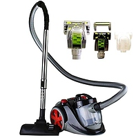 Ovente Bagless Canister Cyclonic Vacuum with HEPA Filter, Comes with Pet/Sofa Brush, Telescopic Wand, Combination Bristle Brush/Crevice Nozzle and Retractable Cord, Featherlite, Corded (ST2010)- $27.75