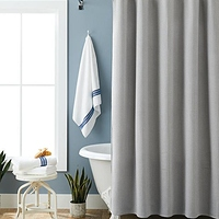 "Better Homes & Gardens Waffle Weave Fabric Shower Curtain 72"" x 72"" at Walmart - $1.00 in 18% of stores"