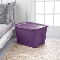 Sterilite 18 Gal./68 L Tote Box Moda Purple at Walmart - $1.50 in 19% of stores