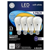 GE LED Dimmable Light bulbs 60W 4pk at Target for $2.99 Online