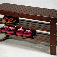 Roundhill Pina Solid Wood Storage Shoe Bench Multiple Colors at Walmart for $29.00 Online