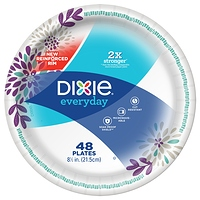 "Dixie Everyday Paper Lunch Plates 8.5"" 48 Count at Walmart - $2.33 in 7% of stores"