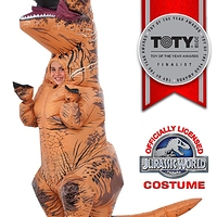 Rubie's Costume Jurassic World Child's T-Rex Inflatable Costume with Sound, Multicolor- $14.57
